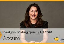 Best job posting quality H2 2020 - Accuro